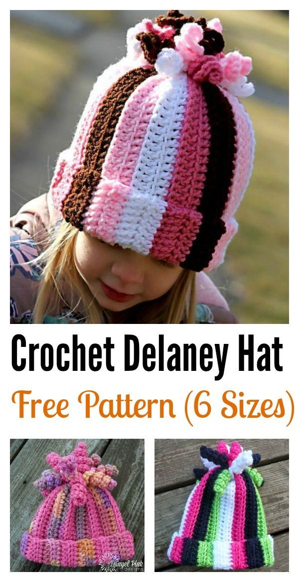 Cute Delaney Hat Free Crochet Pattern | Pinterest | Mütze, Stirnband ...
