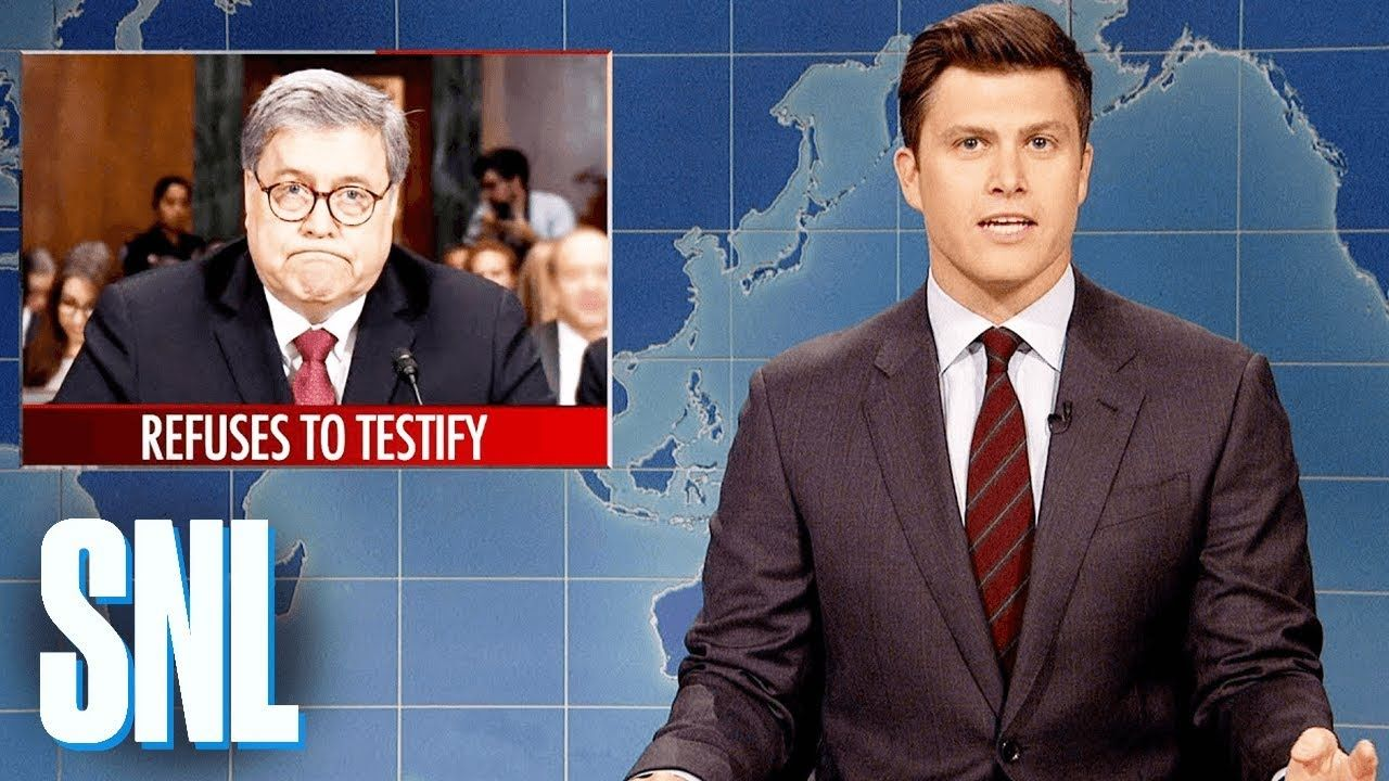 Weekend Update William Barr S Senate Testimony Snl Weekend Update Michael Che Snl