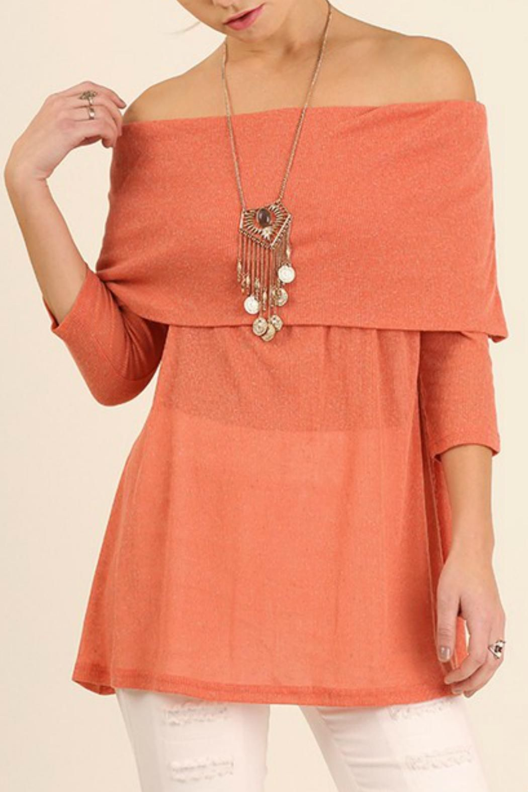 6be1e0be4c501 This off-the-shoulder top features a lightweight rib-knit in a fun