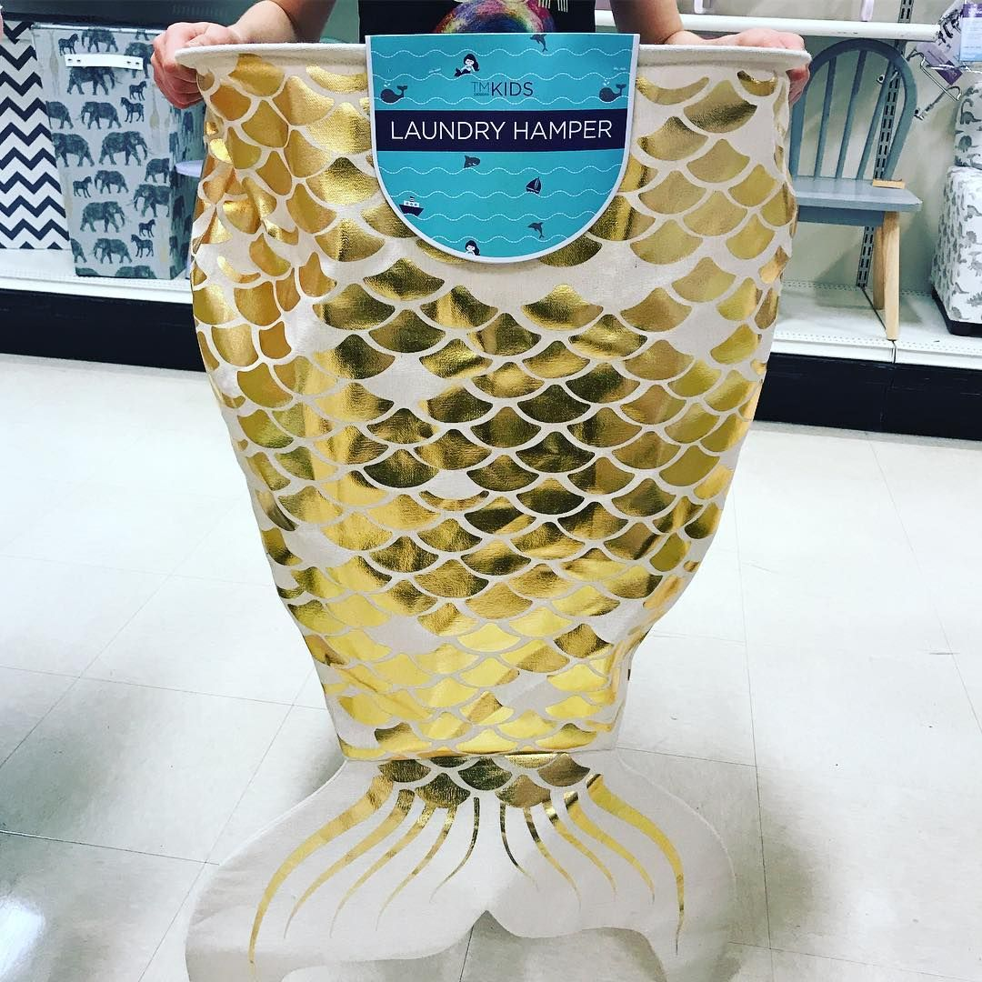 Mermaid Fans Rejoice A Mermaid Tail Laundry Hamper