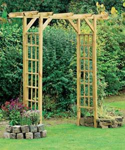 Wooden Garden Arch Use This As A Support For My Bamboo Shade