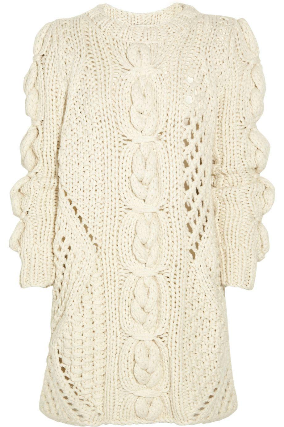 Pringle of Scotland Aran-knit cashmere sweater dress | tejidos ...