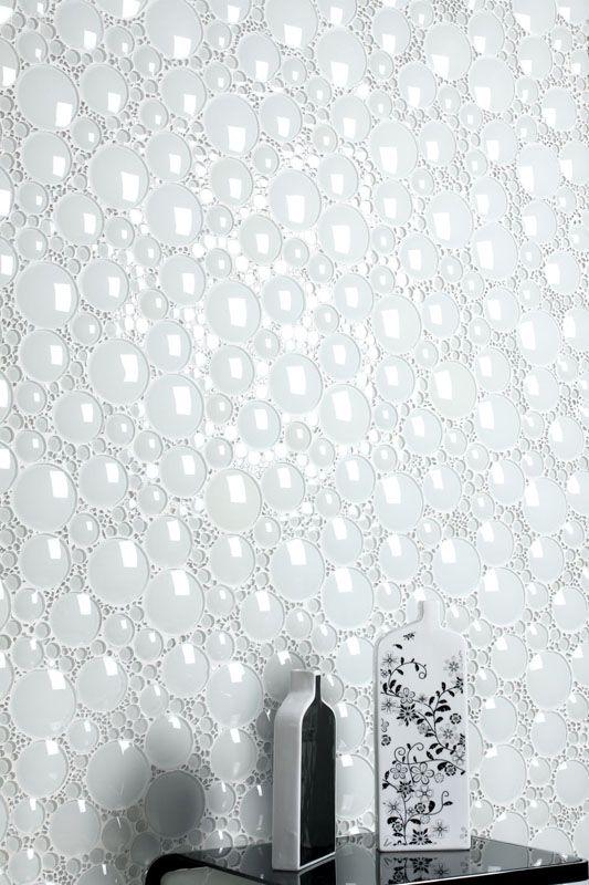 Perini Tiles White Bubbles Of Glass Glass Tile Bathroom Mosaic