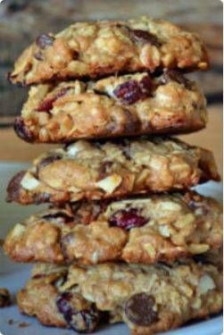 High Protein Trail Mix Cookies