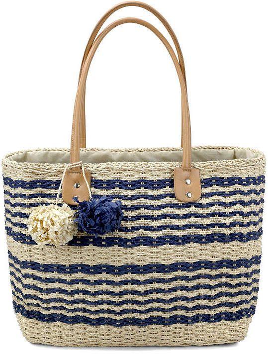 Olivia Miller Olivia Miller Pippy Multi Striped Straw Tote Bag wXiJjPr