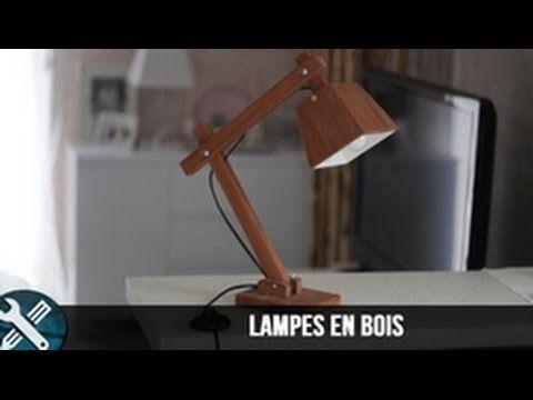 Bricolage Vlogs Fabrication D Une Lampe En Bois Wood Lamp Youtube