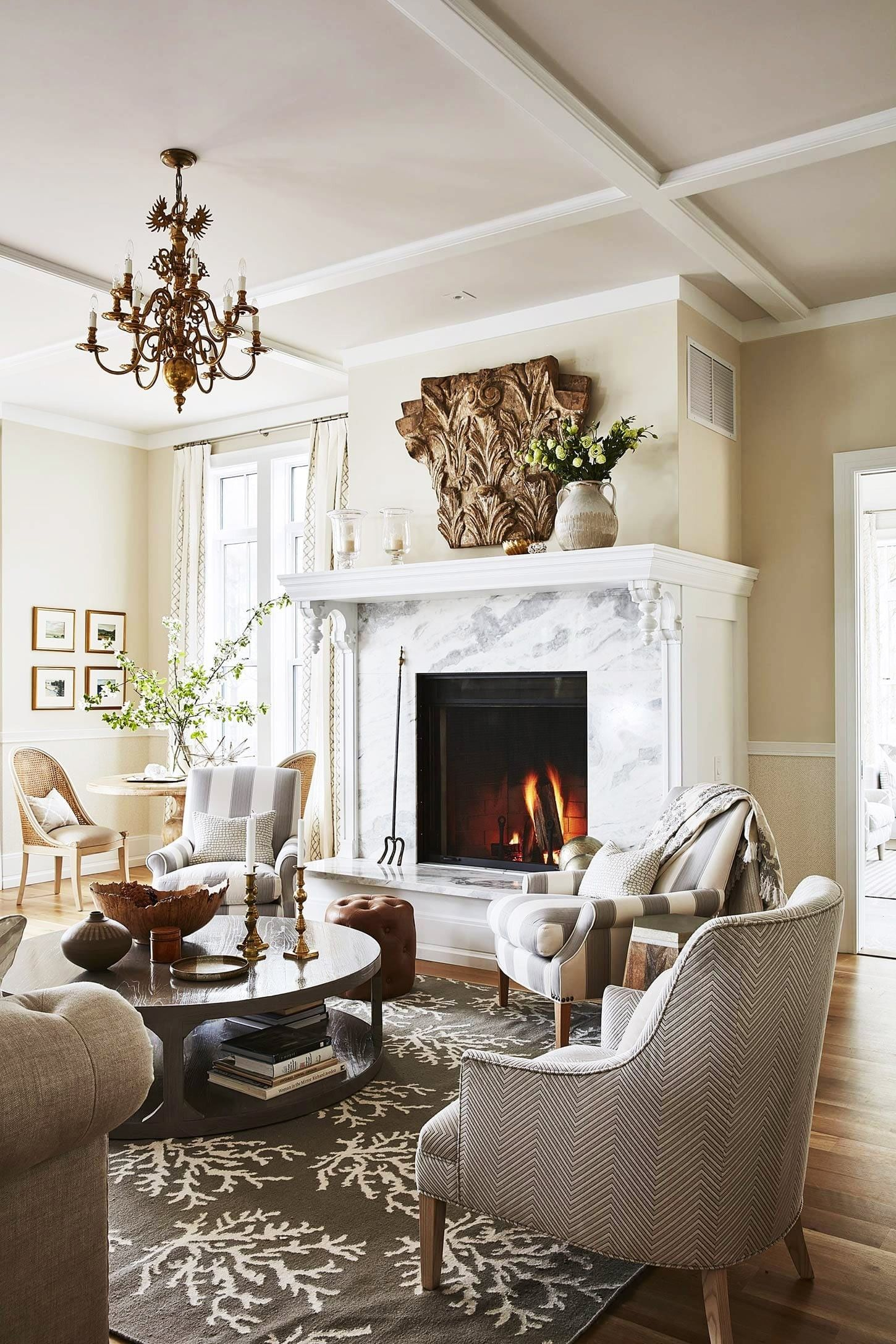 Recipes for a Classic Living Room & Family Room - Hello Lovely