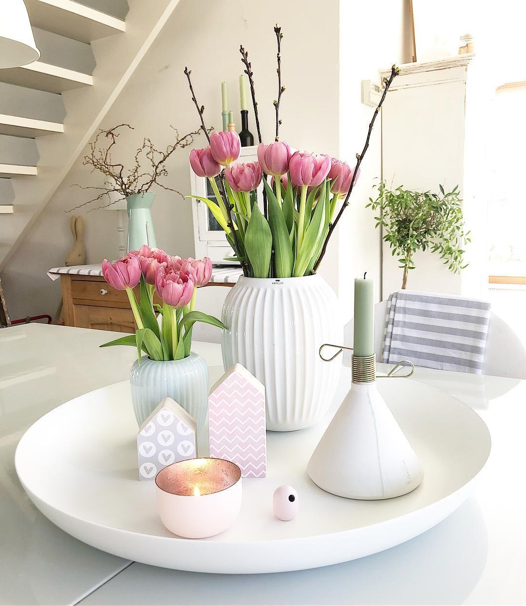 handgefertigte vase hammersh i blumen vasen deko wohnzimmer dekorieren und deko fr hling. Black Bedroom Furniture Sets. Home Design Ideas