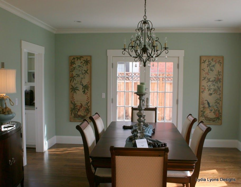 hc 140 prescott green green dining room walls dining on benjamin moore paint by room id=34008