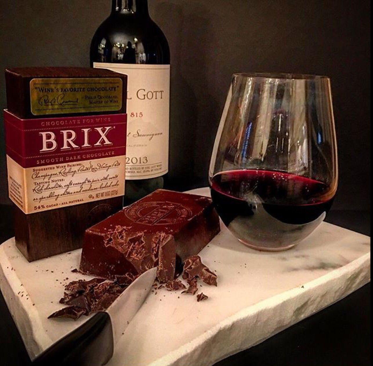 Brix Chocolate And Joel Gott Wine On An Irvingstone Entertaining Slab Wine Pairings Entertaining Dessert Fun Wine Pairing Wines Food