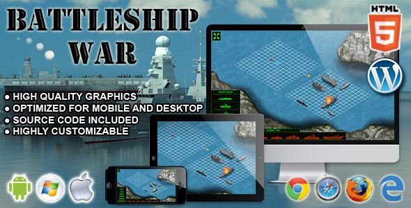 Battleship War  Html Skill Game  Html Games With Source Codes