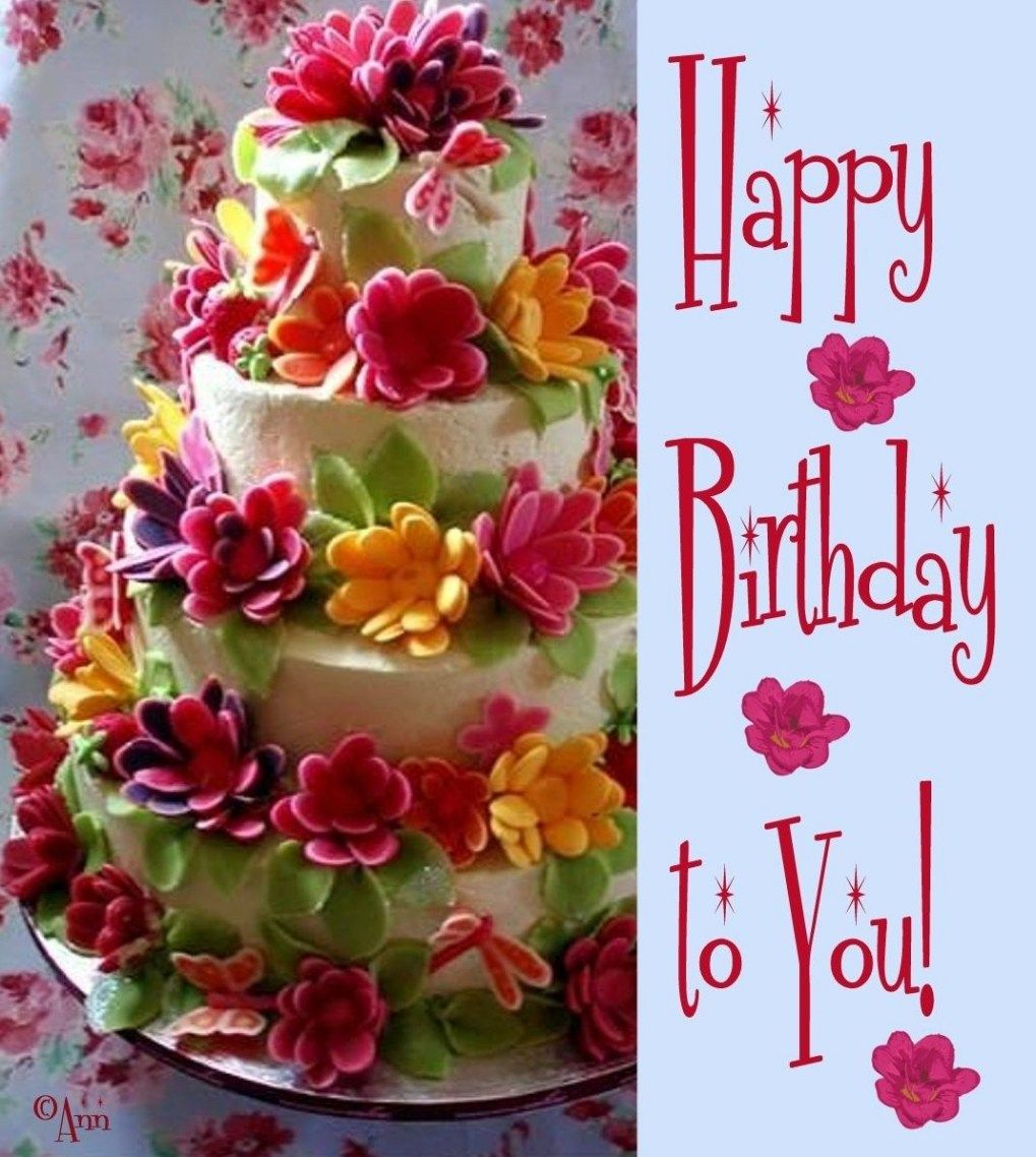 Pleasant 32 Great Photo Of Happy Birthday Flowers And Cake With Images Funny Birthday Cards Online Alyptdamsfinfo