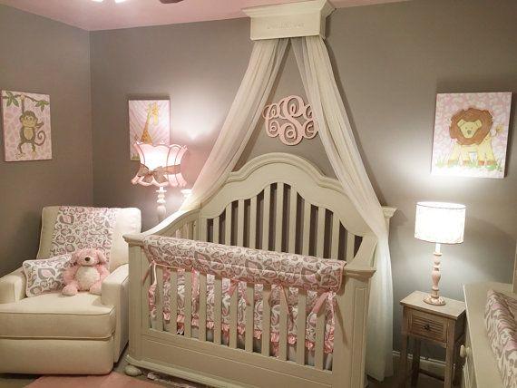 Wall Crown Decor bed crown canopy, crib crown, nursery design, wall decor, shabby