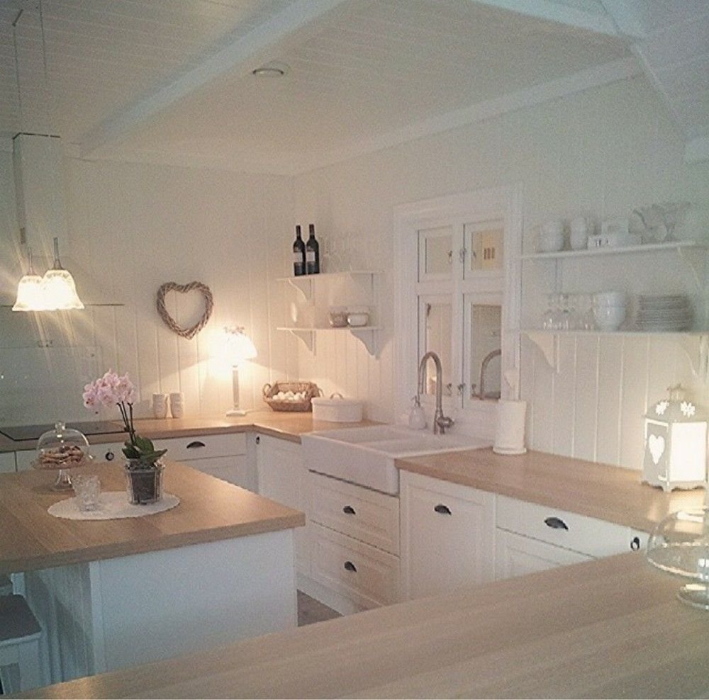 80 Elegant White Shabby Chic Kitchen Wall Shelves