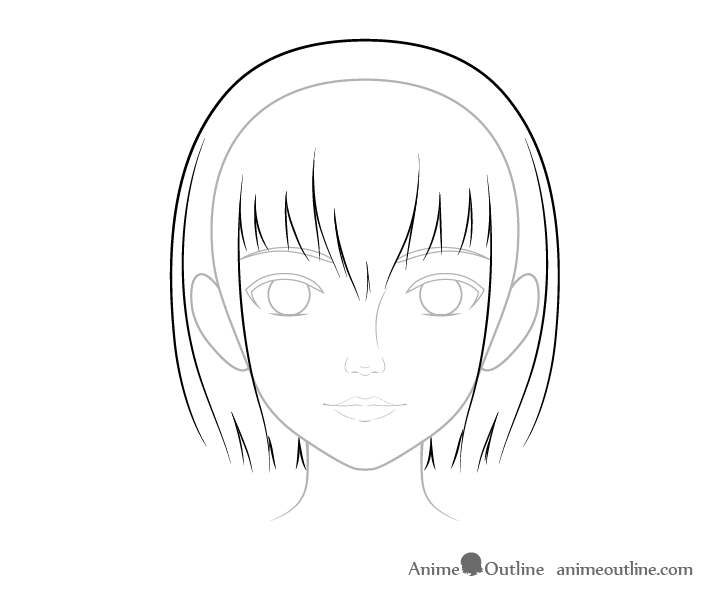 How To Draw A Realistic Anime Face Step By Step Animeoutline Anime Nose Anime Mouth Drawing Anime Face Drawing
