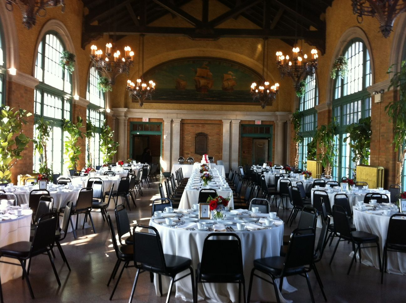 Wedding Luncheon At Columbus Park Refectory Chicago Www Stefanicatering