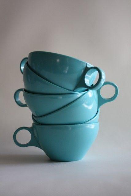 vintage melamine cups