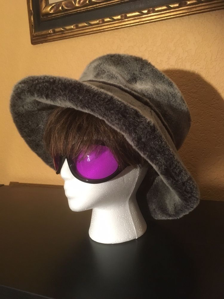 a8e3b2aff4fbe1 ANDREW WILKIE London Designer Grey Faux Fur HAT Large Brim Hip Hop Vintage  Sz M #fashion #clothing #shoes #accessories #womensaccessories #hats (ebay  link)