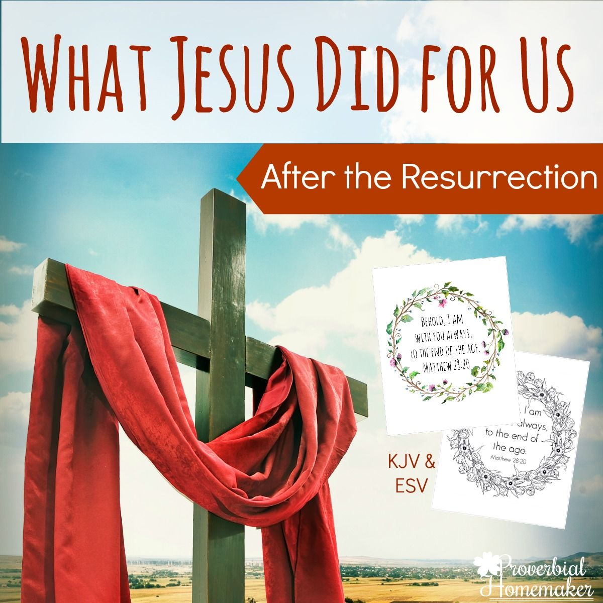 After The Resurrection Scripture Printable
