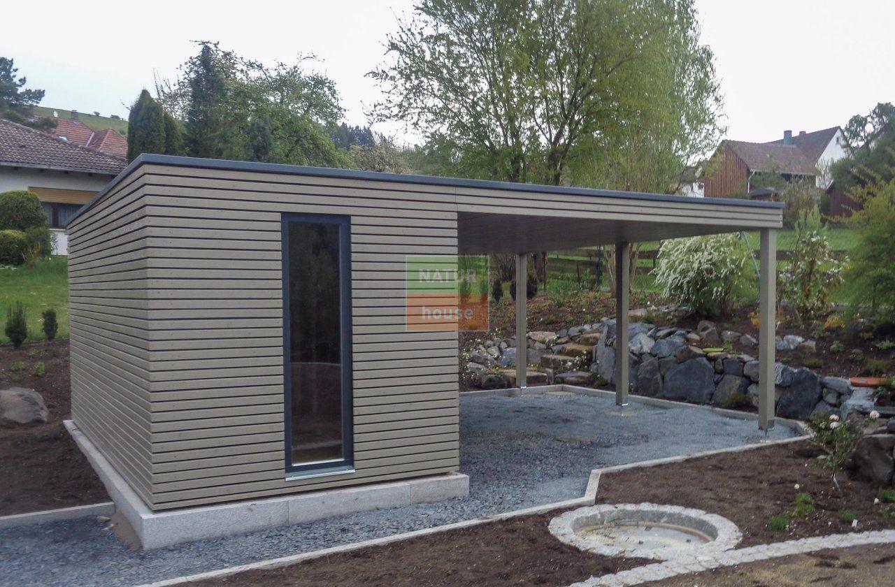 Gartenhaus 5x2 5 M Vordach Rodental Design Gartenhaus Gartenhaus Gartenhaus Flachdach Modern