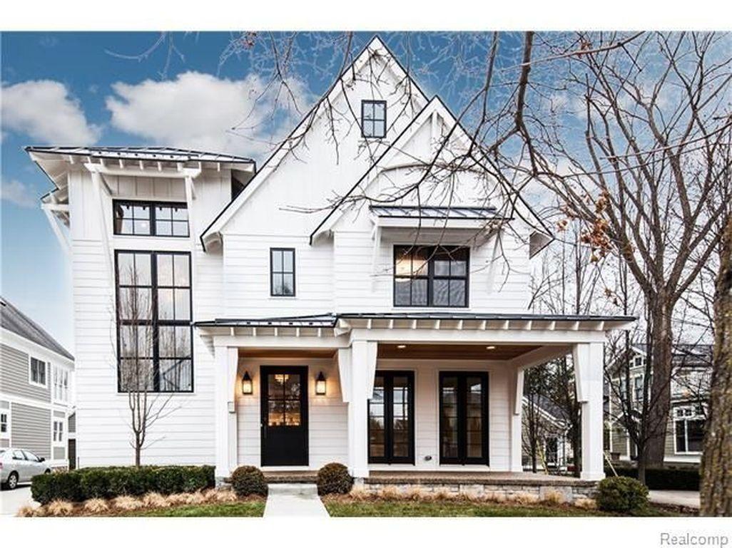 Awesome 50 Incredibly Modern Farmhouse Home Exterior Design Ideas ...