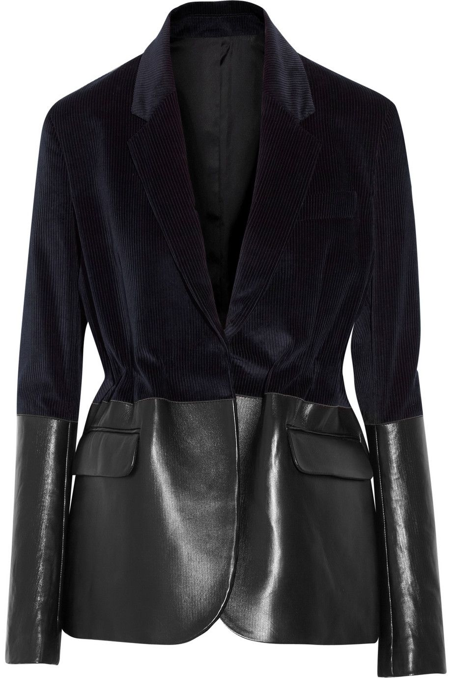 Fawn leatherpaneled corduroy blazer Acne Studios THE