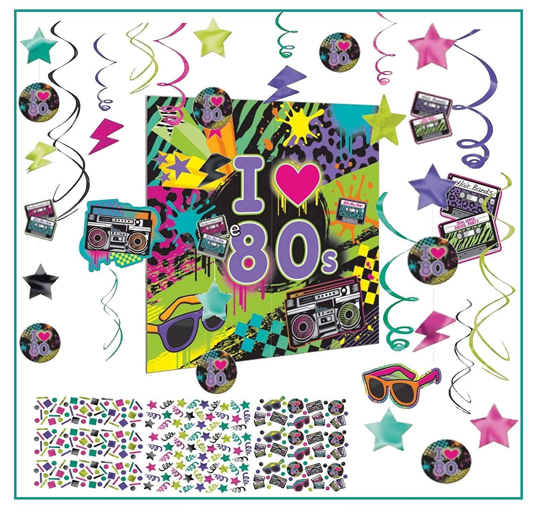 Partydeko 80er Jahre Mottoparty 6er Set Pappbecher Deko Dekoration Feier Party
