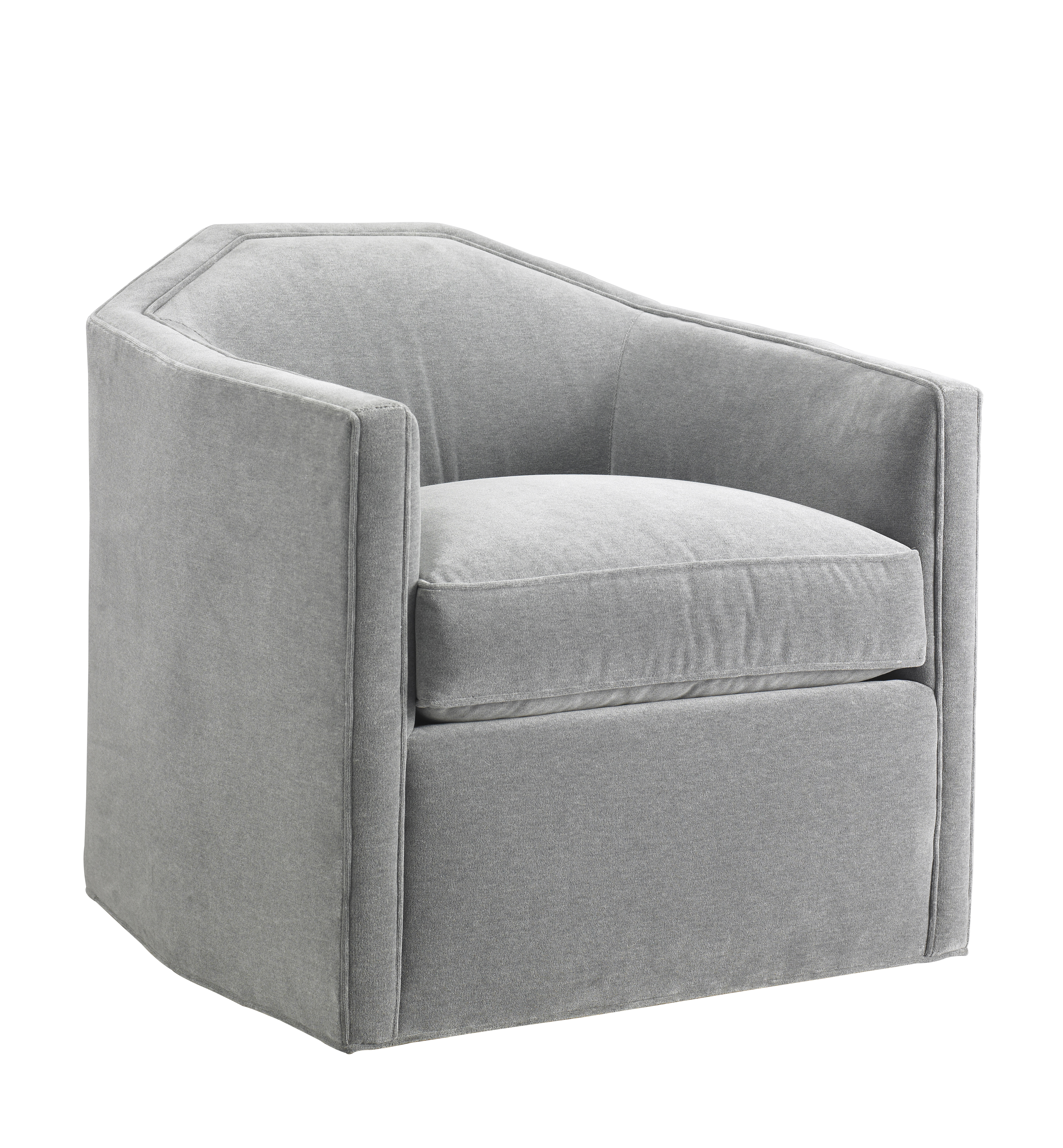 77 Really Cool Living Room Lighting Tips Tricks Ideas: Contemporary Upholstered Swivel Chair - Com