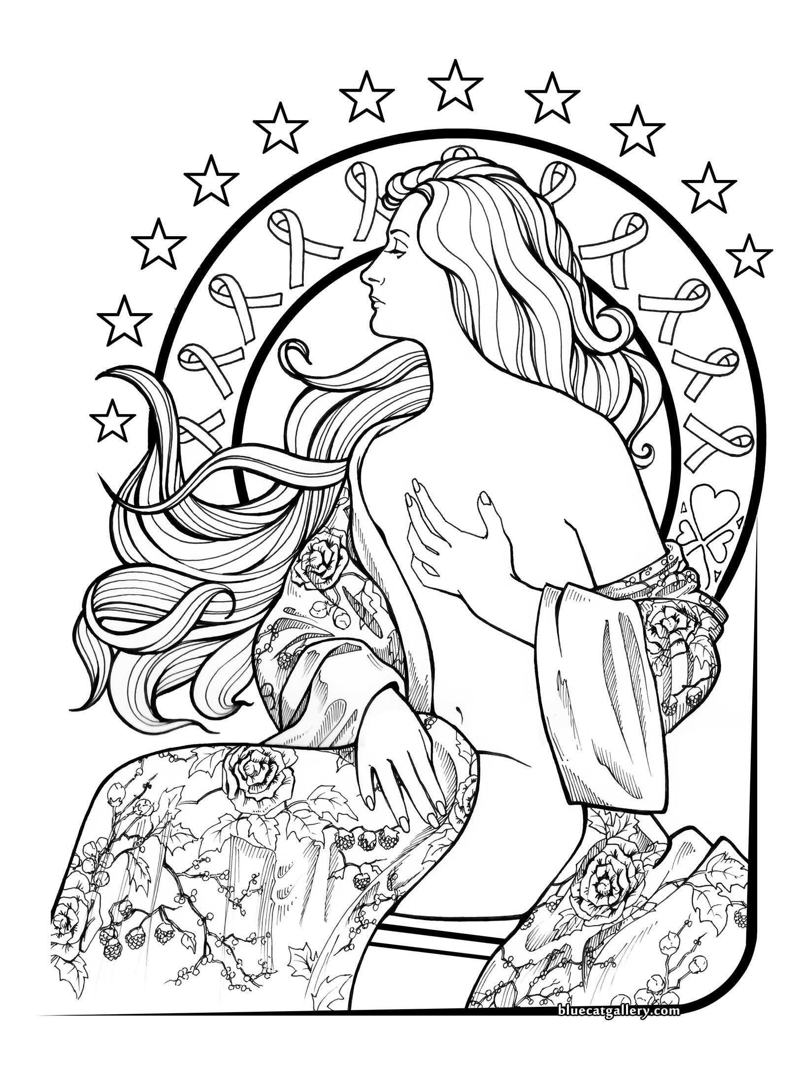 Breast cancer coloring page coloring pages pinterest coloring