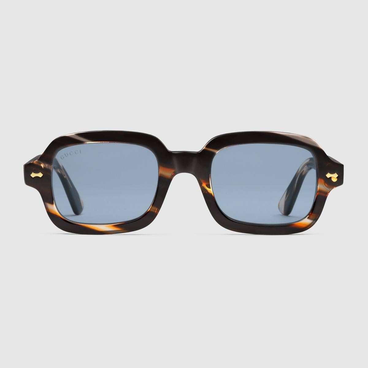 ed90fba73fc Rectangular-frame acetate glasses in Striped tortoiseshell acetate frame
