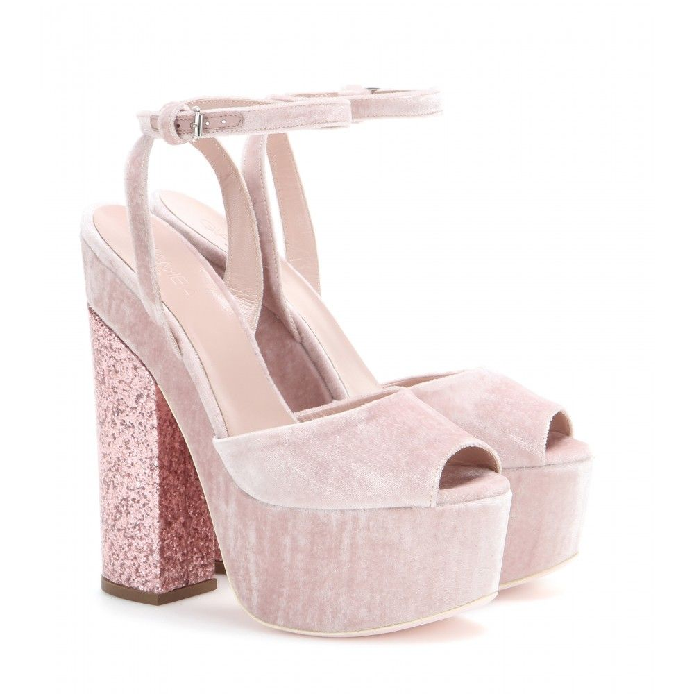 Giamba Velvet Heels