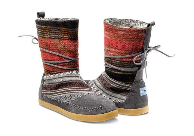 Mixed Woven Women's Nepal Boots