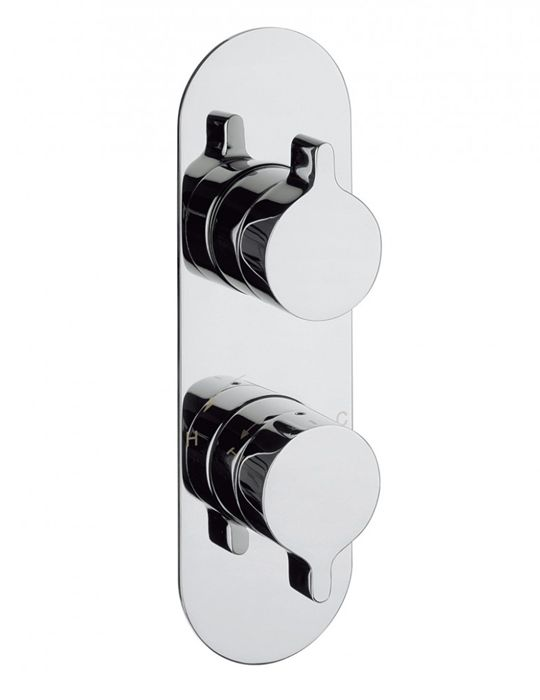 Crosswater Svelte Thermostatic Shower Valve With 3 Way Diverter