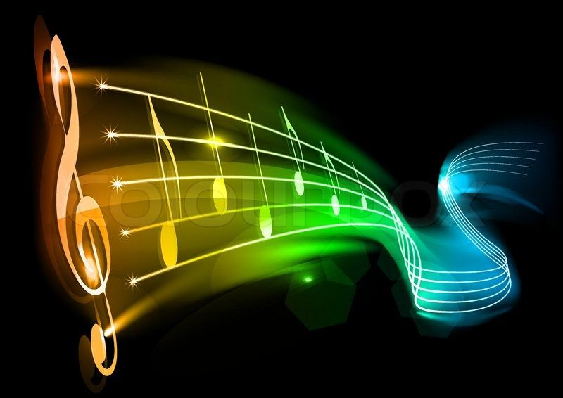 Colorful music notes black background| Home :: dayasriokd ...