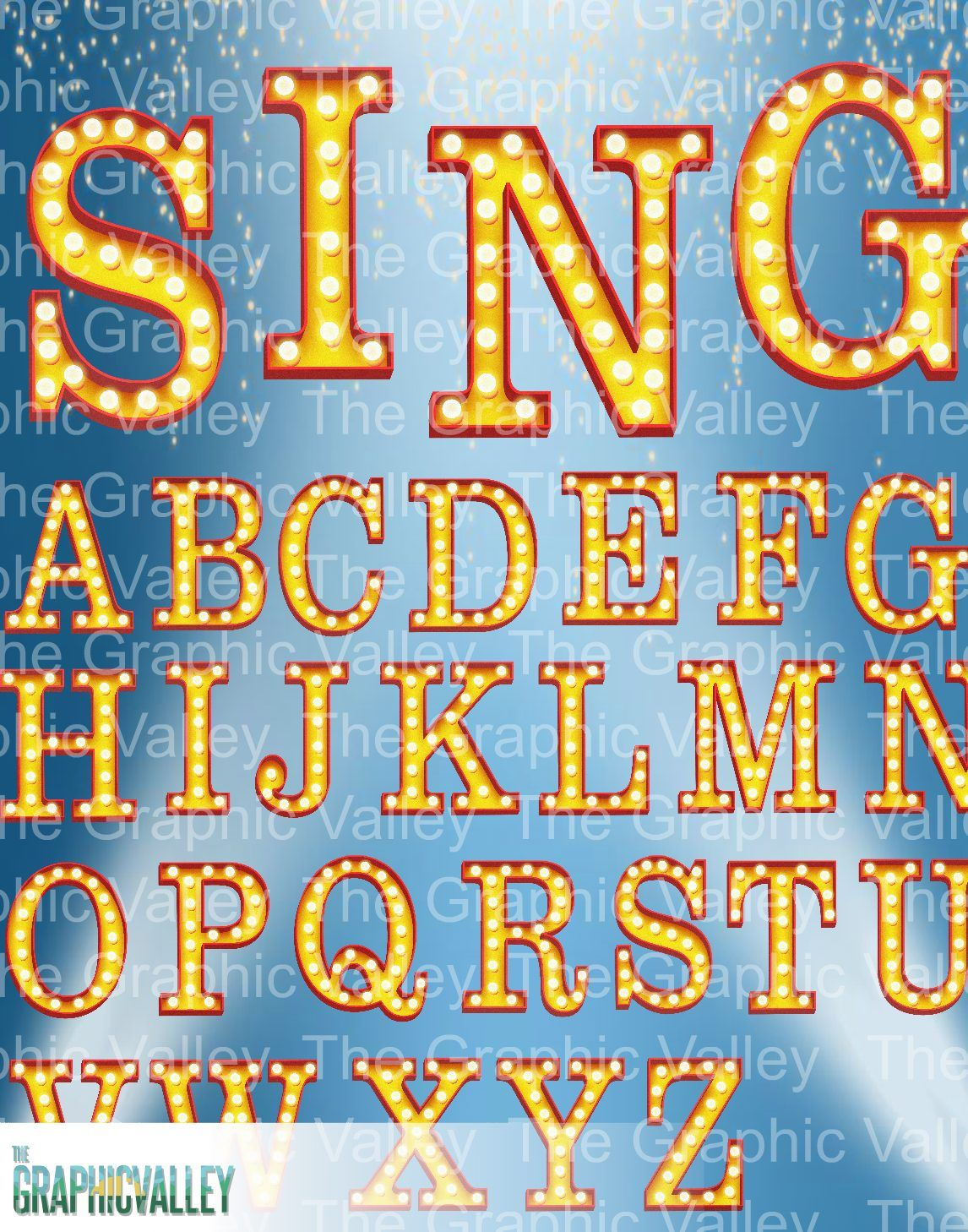 Broadway/ Hollywood style marquee text effect PNG clipart