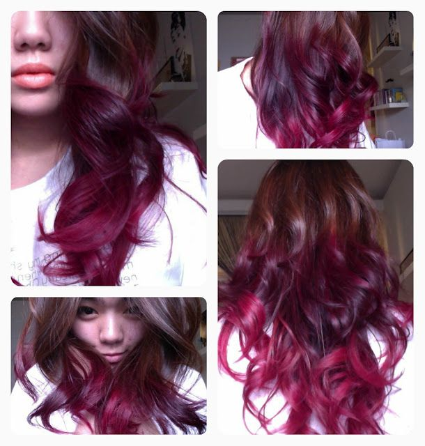 Burgundy Hair Color With Blonde Highlights Brown To Purple Ombre