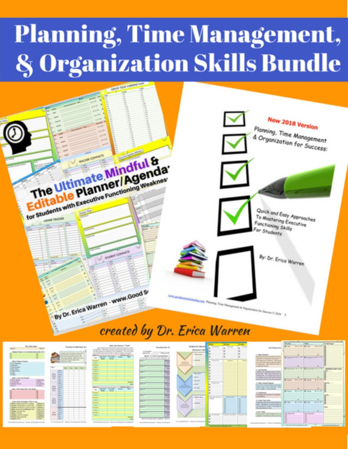 Planning Time Management And Organization Skills Bundle