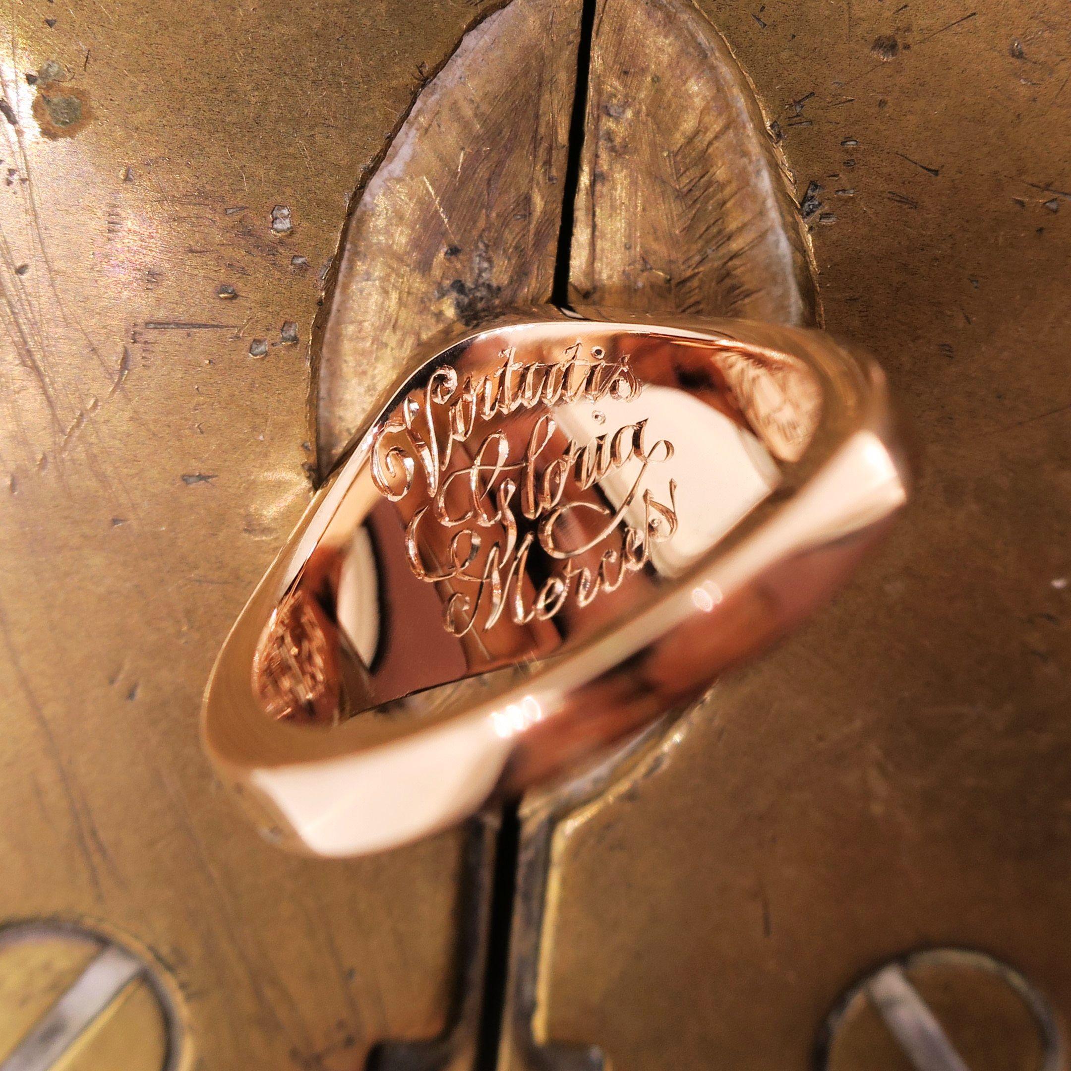 Inside Ring Inscription Signet Ring Signet Sterling Silver Cufflinks