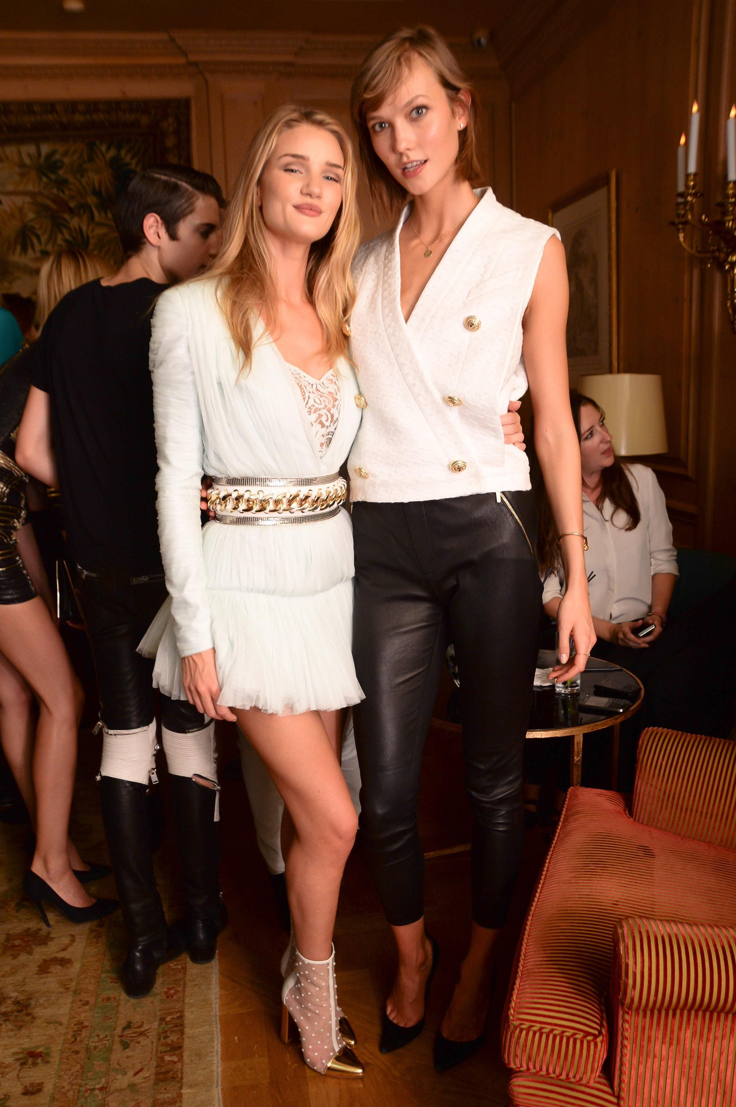 a104832707 Rosie Huntington-Whiteley and Karlie Kloss at #pfw #ss14 | The Best ...