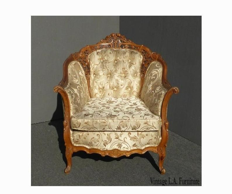 Strange Vintage French Provincial Rococo Tufted Accent Chair Etsy Best Image Libraries Counlowcountryjoecom