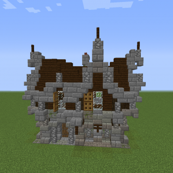 Gothic Me val House 1 Blueprints for MineCraft Houses Castles Towers and more