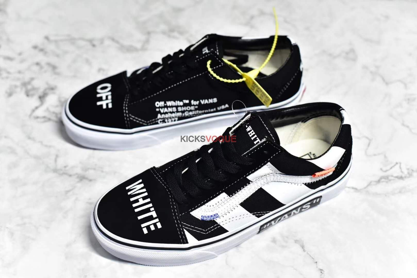Custom Off White x Vans Old Skool | Custom vans shoes, Vans