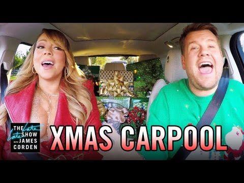 Watch James Corden Mariah Carey And The Carpool Karaoke Stars Sing Quot All I Want For Christmas Is You Quo Carpool Karaoke Christmas Carpool Karaoke Carpool