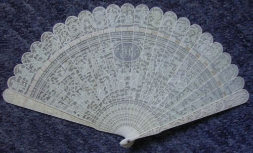 Antiguo-Chino-Tallado-Ventilador-eventail
