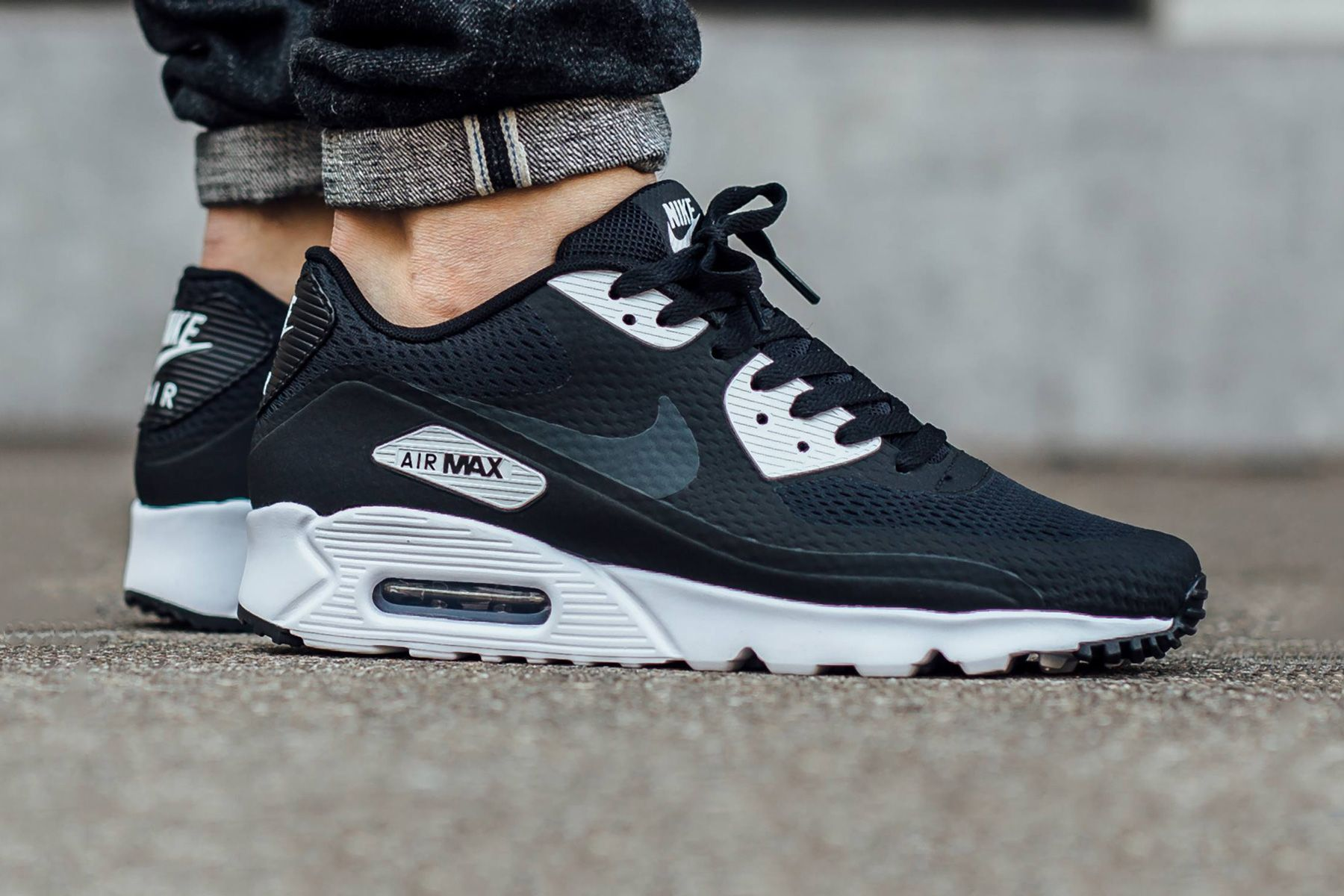 nike air max 90 anthracite white black purple flannel