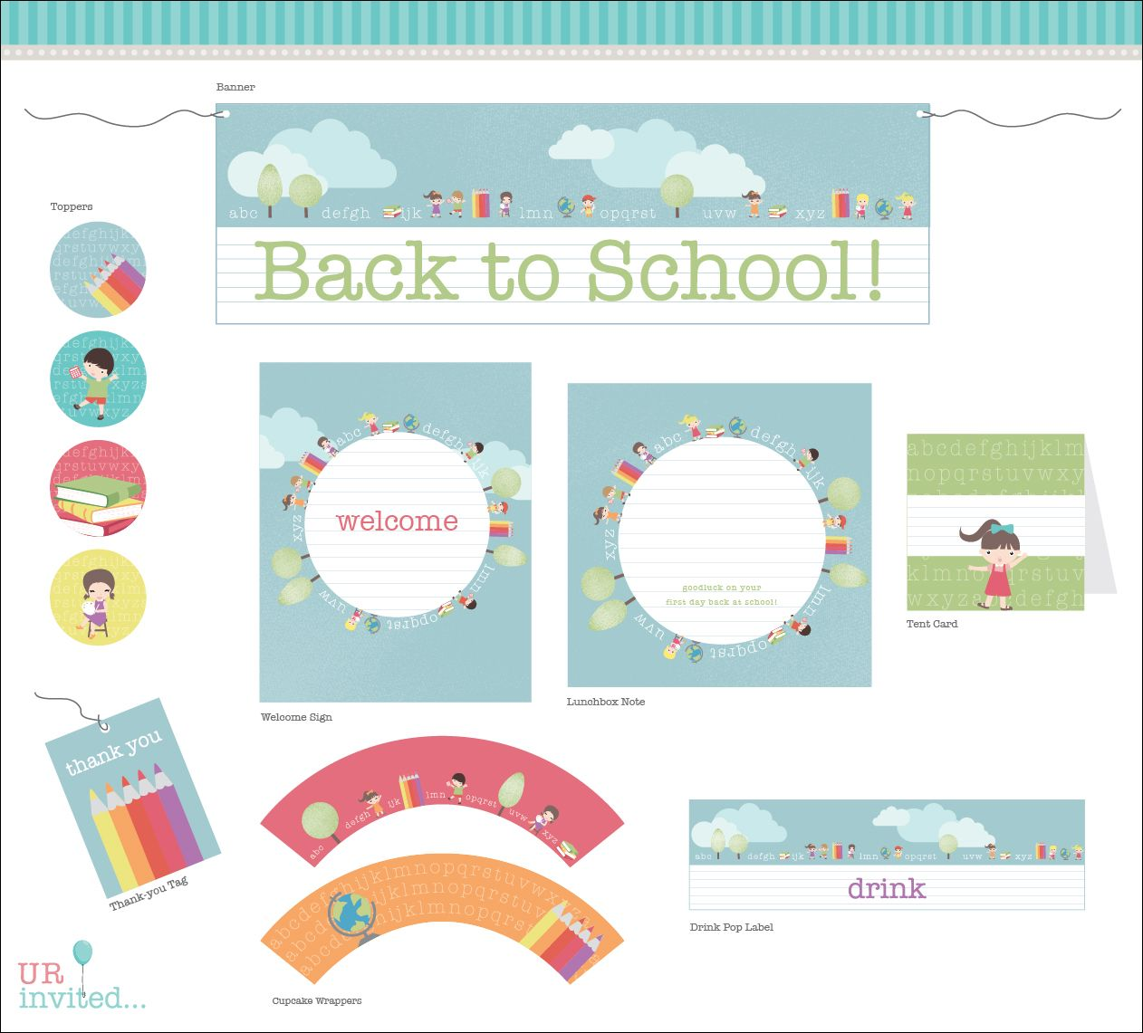 Check Out Our New Free Back To School Party Printables