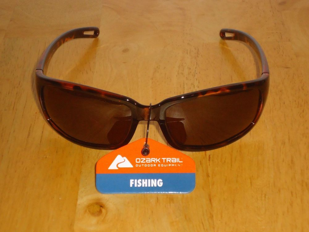 9791e36987 Ozark Trail Polarized Sunglasses for Fishing Driving Sports Brown Tortoise  NWT  OzarkTrail  Wrap