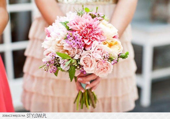 Groszki I Roze Bukiet Slubny Dalia Roza Piwonia Cha Na Stylowi Pl Wedding Bouquets Wedding Flowers Wedding