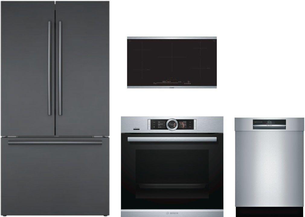Bosch 800 4 Piece Kitchen Appliances Package With French Door Refrigerator And Dishwashe Kitchen Appliance Packages French Door Refrigerator Kitchen Appliances