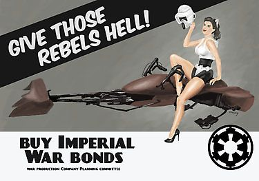 Star Wars Imperial Scout Trooper pinup poster